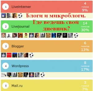 Блоги и микроблоги.