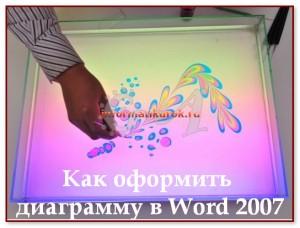 Оформление диаграммы в Word 2007