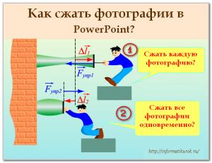 Как сжать фотографии в PowerPoint 2003