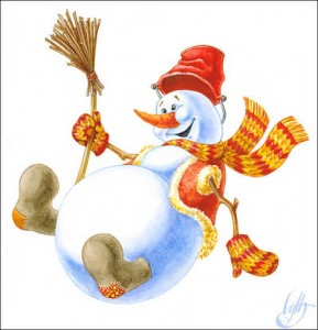 Снеговик - третий конкурс