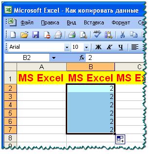 Скопированный текст в MS Excel