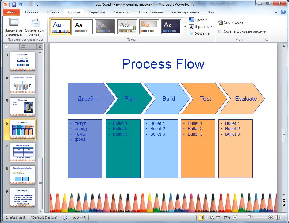 Скачать дизайнерской темы для презентаций powerpoint