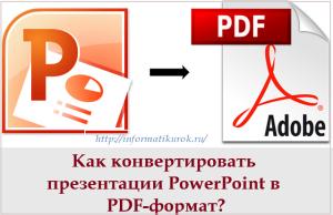 Как конвертировать презентацию в pdf-формат